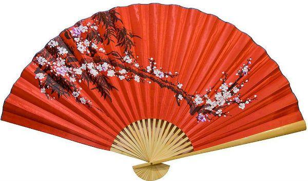 Шелковый китайский веер фото