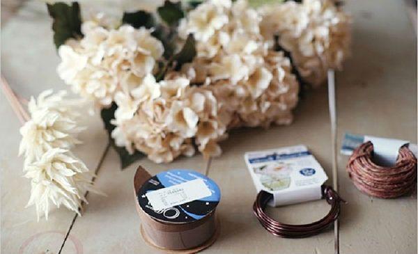 Свадебный букет из хризантем инструменты фото