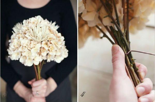 Свадебный букет из хризантем шаг 3 и 4 фото