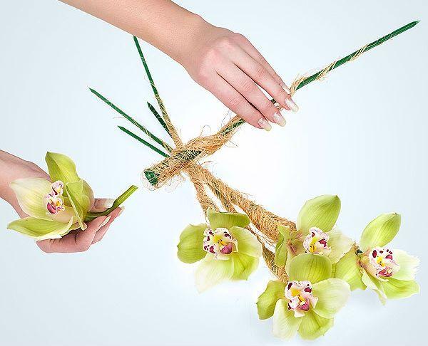 Свадебный букет из орхидей шаг 2 фото