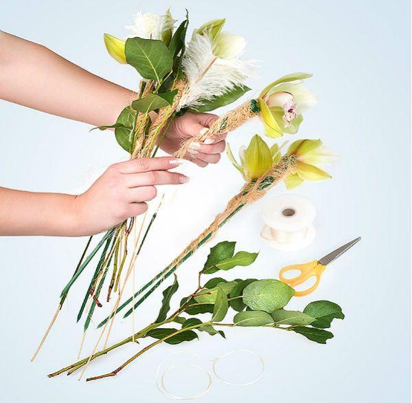 Свадебный букет из орхидей шаг 6 фото