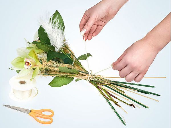Свадебный букет из орхидей шаг 7 фото