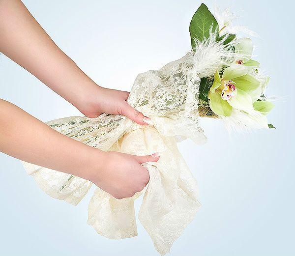Свадебный букет из орхидей шаг 8 фото