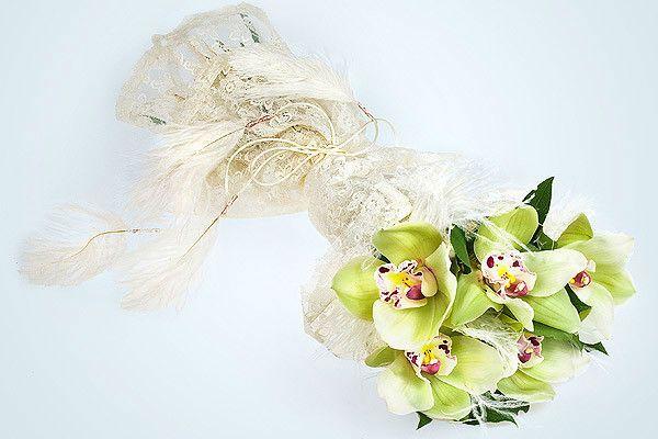 Свадебный букет из орхидей фото