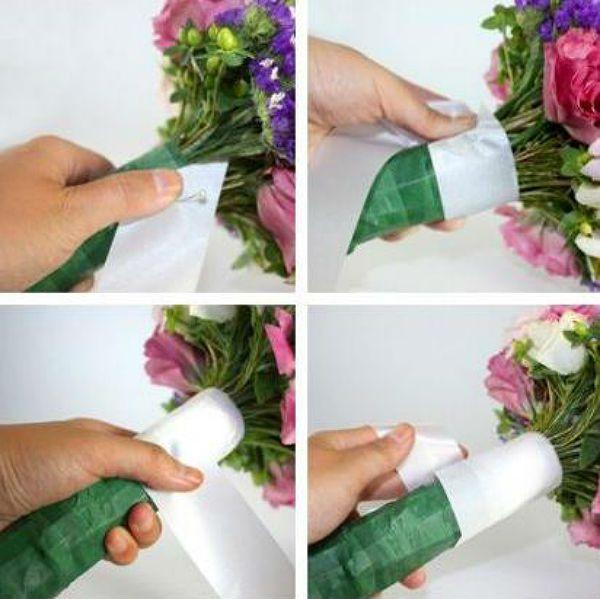 Свадебный букет из полевых цветов шаг 4 фото