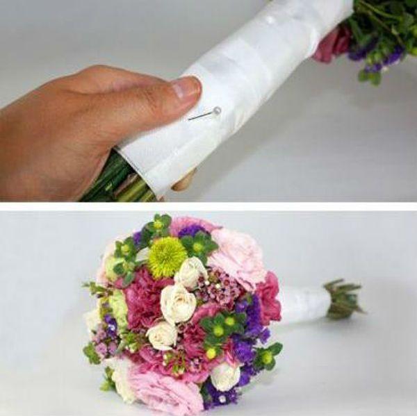 Свадебный букет из полевых цветов шаг 5 фото