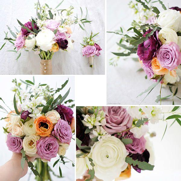 Свадебный букет из ранункулюса и роз шаг 3 фото