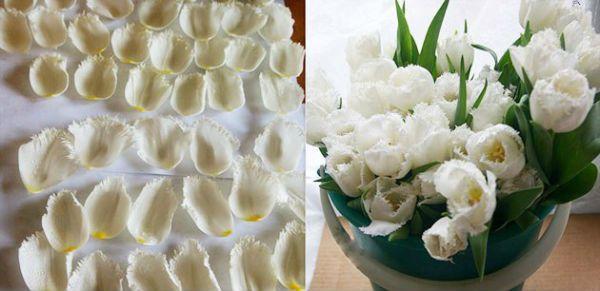 Свадебный букет из тюльпанов шаг 1 фото