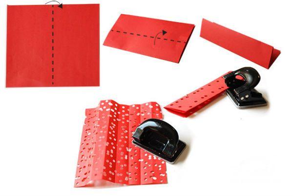 Трехслойный веер из бумаги шаг 1 фото
