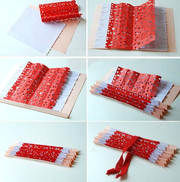 Трехслойный веер из бумаги шаг 4 фото