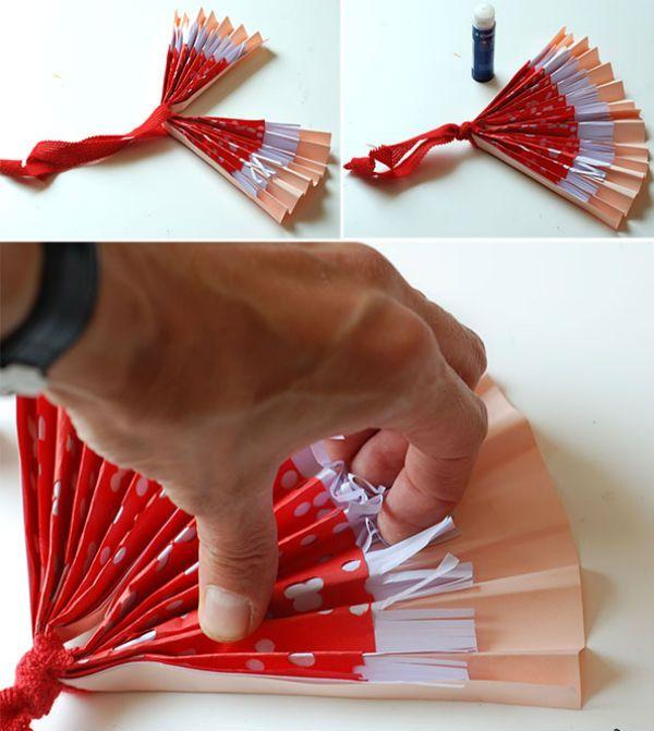 Трехслойный веер из бумаги шаг 5 фото