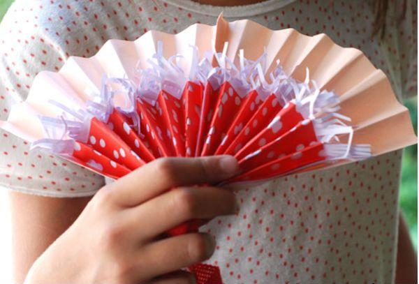 Трехслойный веер из бумаги фото