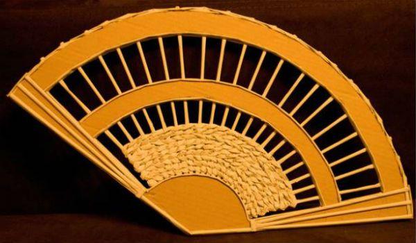 Веер из газетных трубочек шаг 2 фото