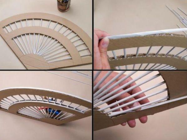 Веер из газетных трубочек плетение шаг 2 фото