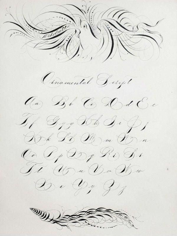 Искусство каллиграфии фото