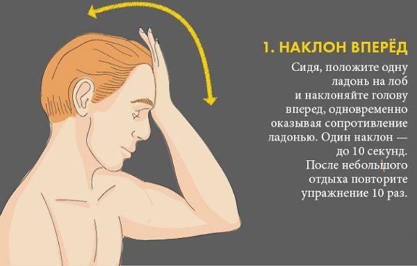 Шейный остеохондроз упражнение 1 фото