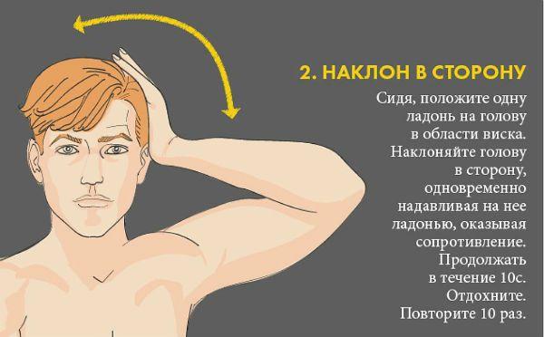 Шейный остеохондроз упражнение 2 фото
