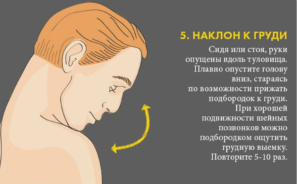 Шейный остеохондроз упражнение 5 фото