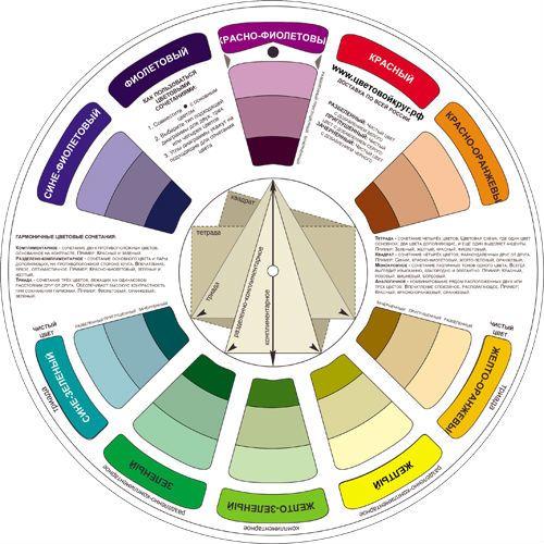 Цветовой круг из 10 цветов фото