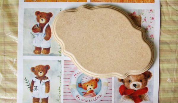 Декупаж детской вешалки материалы фото