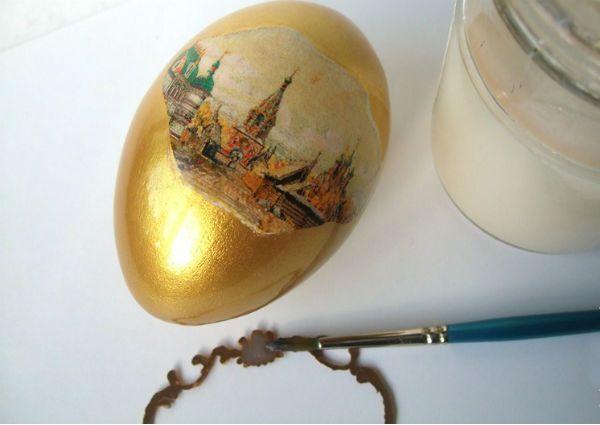 Декупаж яйца шаг 15 фото
