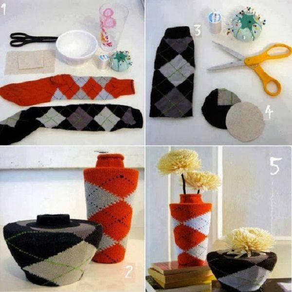 Носки для декора ваз фото