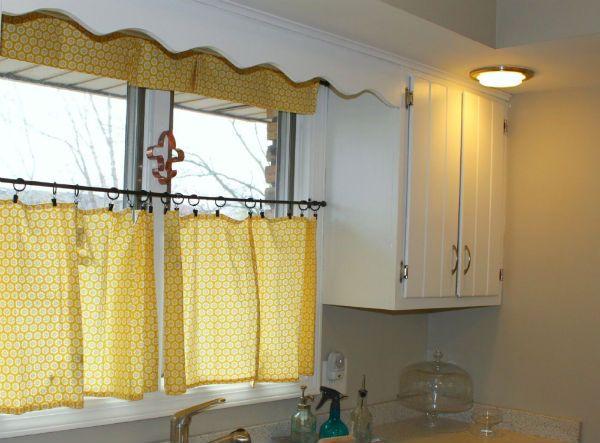 Оформление окна на кухне в скандинавском стиле вариант 6 фото
