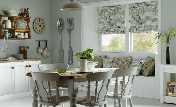 Оформление окна на кухне в скандинавском стиле вариант 8 фото