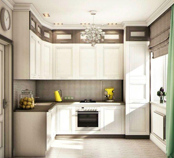 Оформление окна на кухне в современном стиле вариант 4 фото