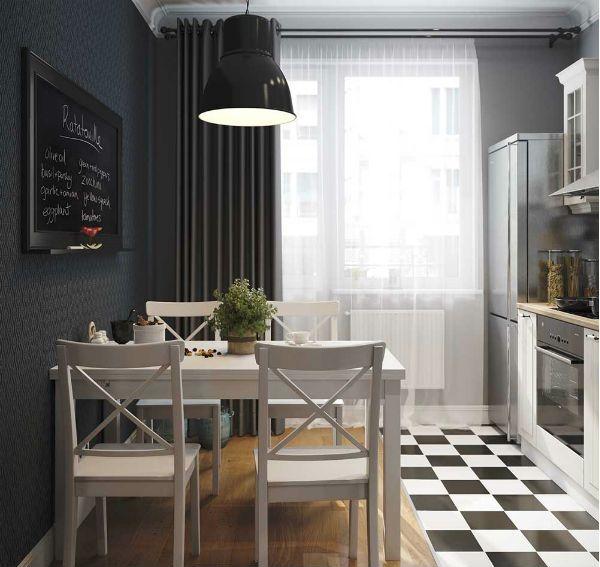Оформление окна на кухне в современном стиле вариант 6 фото