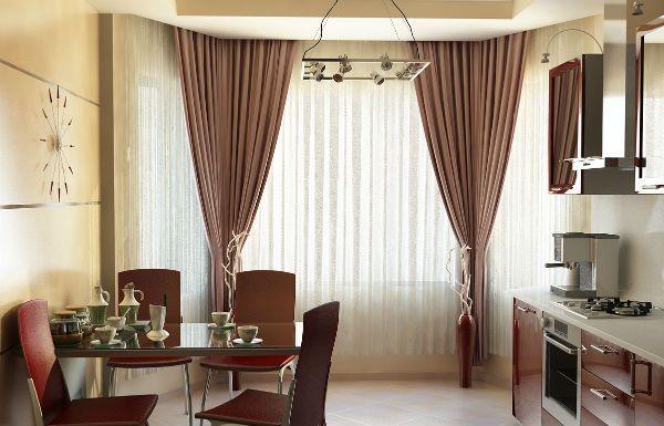 Оформление окна на кухне в современном стиле вариант 8 фото