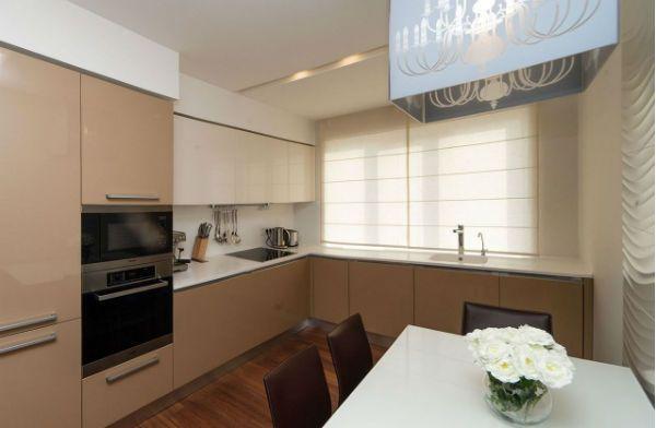 Оформление окна на кухне в стиле минимализм вариант 3 фото