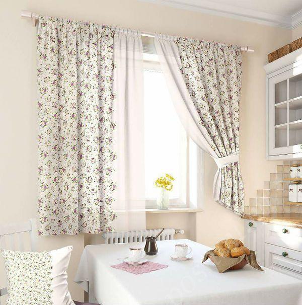 Оформление окна на кухне в стиле прованс вариант 7 фото