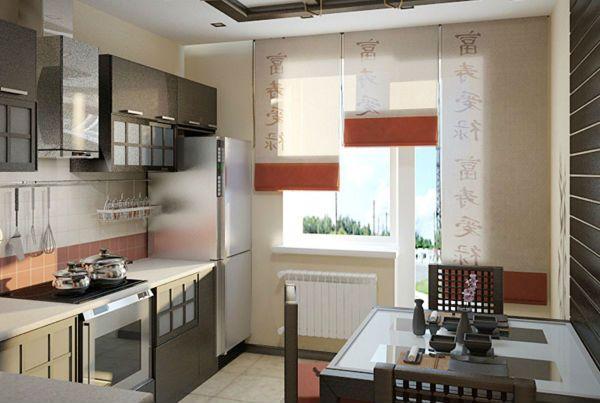 Оформление окна на кухне в восточном стиле вариант 11 фото