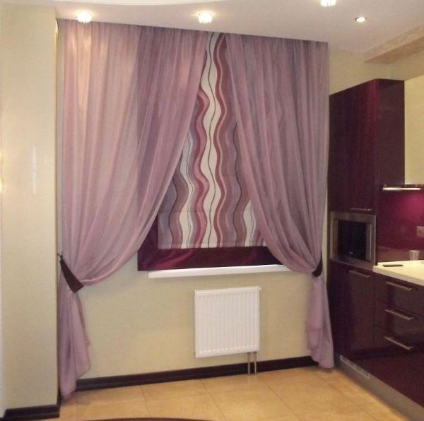 Оформление окна на кухне в восточном стиле вариант 13 фото