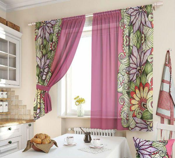 Оформление окна на кухне в восточном стиле вариант 14 фото