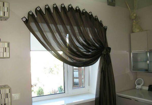 Оформление окна на кухне в восточном стиле вариант 16 фото