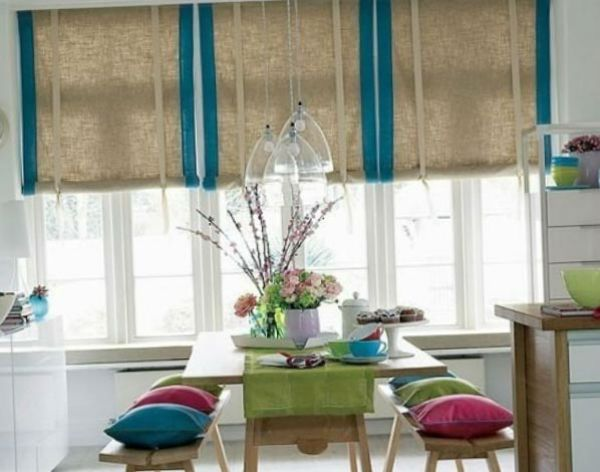 Оформление окна на кухне в восточном стиле вариант 3 фото