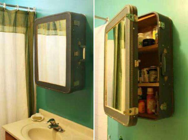 Шкафчик из старого чемодана фото