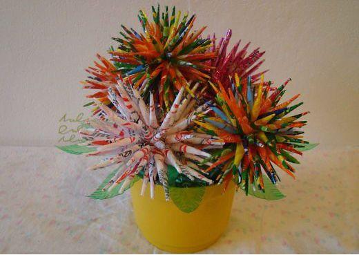Цветы из фантиков от конфет фото