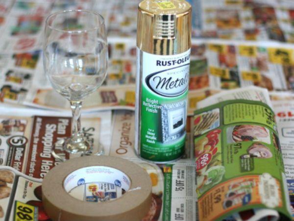 Декор бокалов золочением инструменты фото