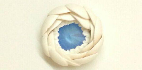 Декор свадебных бокалов полимерной глиной шаг 5 фото