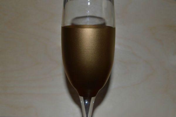 Декор свадебных бокалов тканью шаг 3 фото