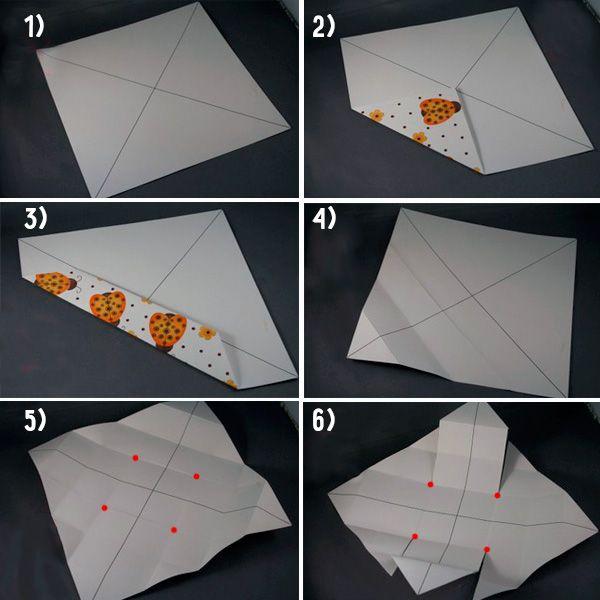 Коробка оригами шаг 1-6 фото