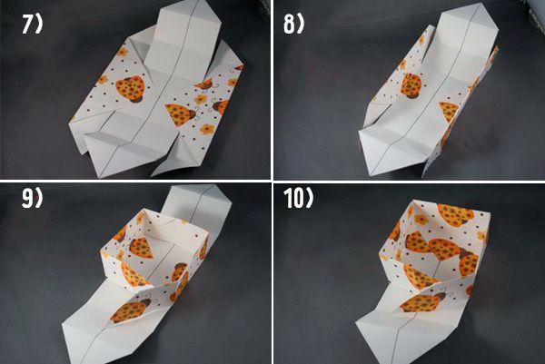 Коробка оригами шаг 7-10 фото