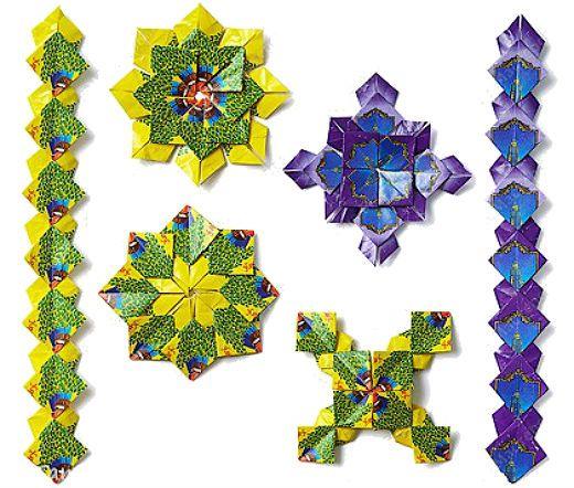 Орнаменты из фантиков от конфет фото