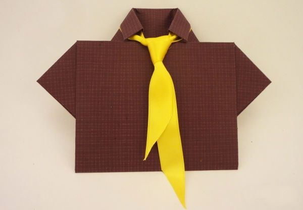 Открытка с галстуком фото