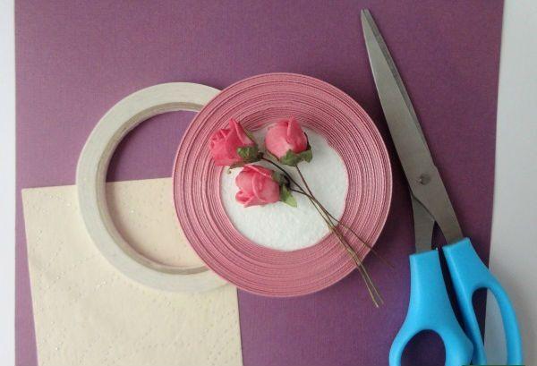 Открытка с розами материалы фото