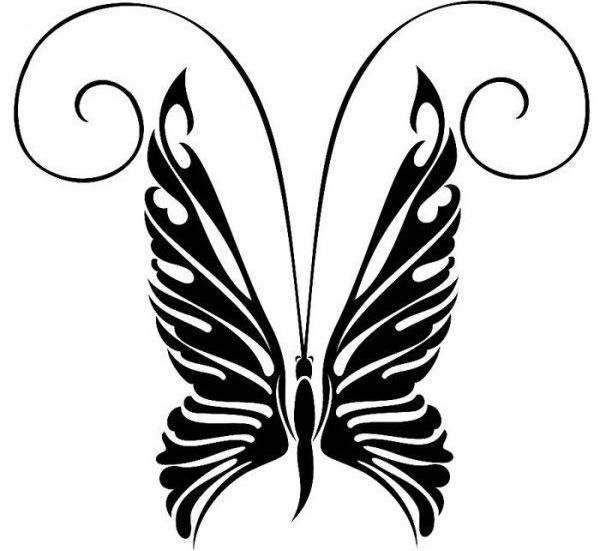 Бабочка трафарет для декора фото