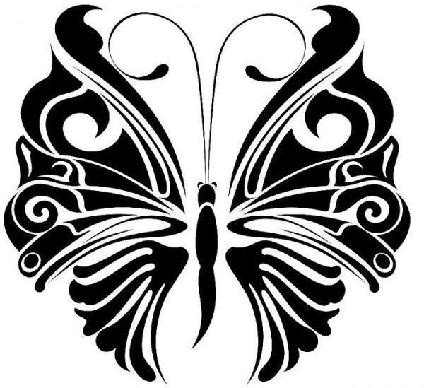 Бабочка трафарет для декора мебели фото